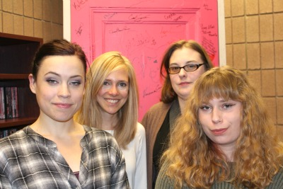 Rethinking Feminism is one of UM-Flint's newest student organizations. Members include (from left) Anne Trelfa, Stacie Scherman, Paige Anderson and Stephanie Cross.