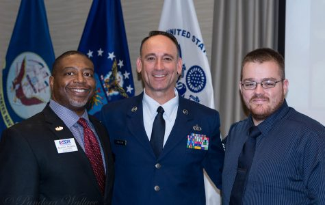 Quinton Roberts, Air Force Veteran and speaker at last year Veteran's day event. Dan Salazar UM-Flint staff member and student, chair of Veterans' Day Planning Committee and member of Air Force National Guard. Alan Fredendall an Army vet, last year's speaker and PT student at UM-Flint.