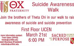 Theta Chi Fraternity Hosting Suicide Awareness Walk