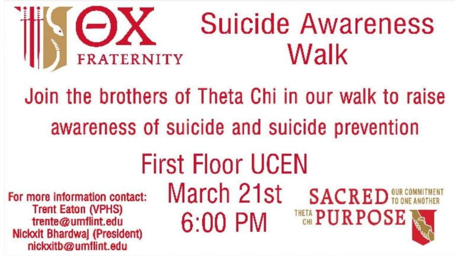 Theta Chi Fraternity Hosting Suicide Awareness Walk – The