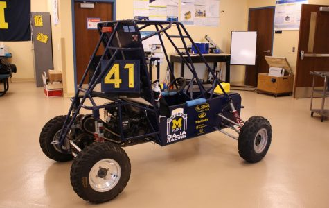 This baja car was made by students for last year's race. Dozen's of students put almost endless hours into perfecting and optimizing every aspect of their team's car.