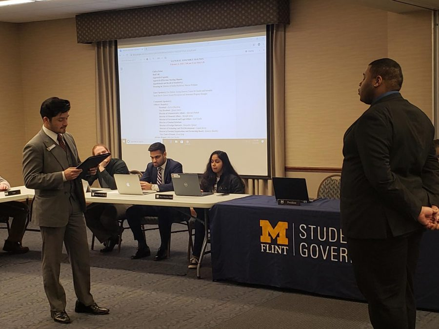 President Nickxit Bhardwaj swore in Marcus Williams as director of student affairs.