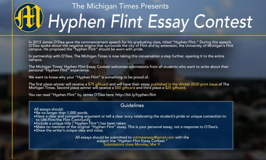 "The Michigan Times ""Hyphen Flint"" Essay Contest"