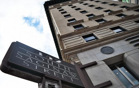 352 South Saginaw St. Has been under renovation for over a year. As it's opening day draws closer, Hilton is looking to hire students for day-to-day operations.