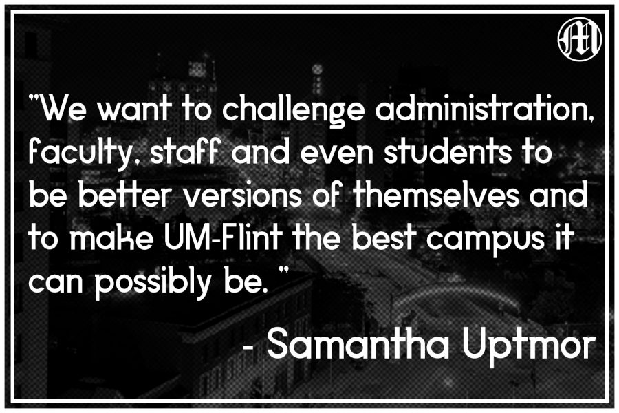 UM-Flint student Samantha Uptmor has spent the last year uniting over a dozen Student Governments across the state. Now she wants to take on the same task and unite the UM-Flint student body.